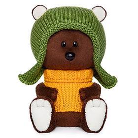 Мягкая игрушка «Медведь Федот» в шапочке и свитере, 15 см