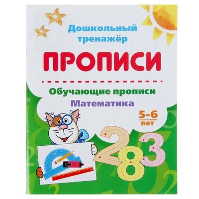 Дошкольный тренажёр. Обучающие прописи «Математика»: для детей 5-6 лет - Фото 1