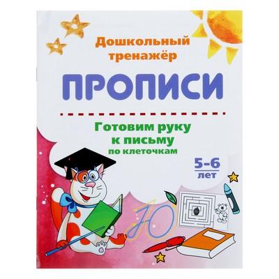 Дошкольный тренажёр. Прописи «Готовим руку к письму по клеточкам», для детей 5-6 лет - Фото 1