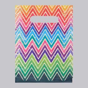 Пакет 'Цветной', полиэтиленовый с вырубной ручкой, 20 х 30 см, 30 мкм Ош