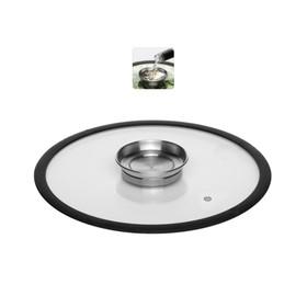Стеклянная крышка с силиконовым ободом, 28 см, NADOBA, серия NATA