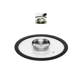 Стеклянная крышка с силиконовым ободом, 24 см, NADOBA, серия NATA