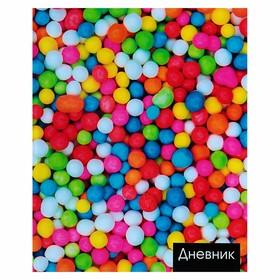Дневник школьный, 5-11 класс «Конфеты», твёрдая обложка, глянцевая ламинация, 48 листов Ош