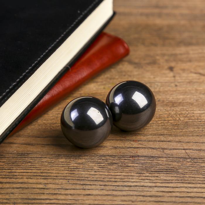 Магнитные шары Чёрные набор 2 шт d3 см
