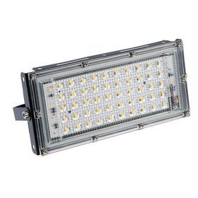 Прожектор светодиодный модульный Luazon Lighting M-02B 50Вт, IP65, 4500Лм, 3000К,220В Черный Ош