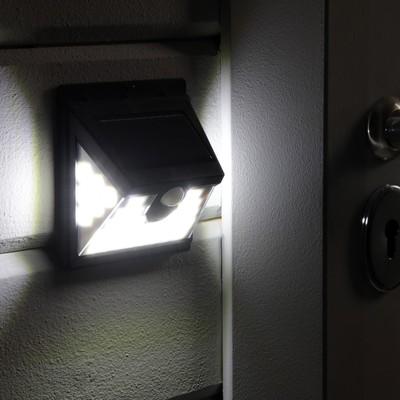 Светильник уличный с датчиком движения, солнечная батарея, 180 градусов, 7 Вт, 40 LED, 6500К - Фото 1