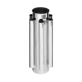 Дымоход-конвектор Феррум нержавеющий 430/0.8 мм, d 200 мм, L=0.5 м Ош