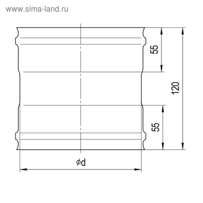 Адаптер Феррум ММ для печи, нержавеющий 430/0.5 мм, d 120 мм