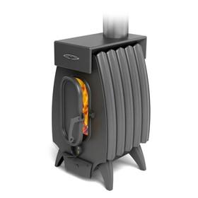 Печь отопительно-варочная «Огонь-батарея 5 Лайт», дровяная, цвет антрацит Ош
