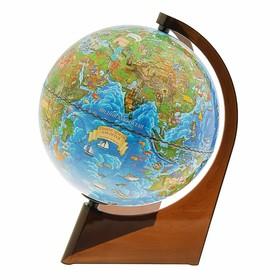 Глобус Земли зоогеографический 210 мм, треугольная подставка