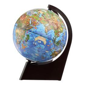 Глобус Земли зоогеографический, диаметр 210 мм, с подсветкой, треугольная подставка