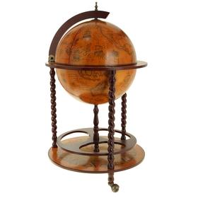 Глобус-бар декоративный напольный с витыми ножками Ош