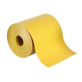 Лента бордюрная, 0.15 × 10 м, толщина 1.2 мм, пластиковая, жёлтая, Greengo Ош