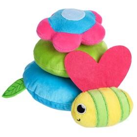 Развивающая игрушка - пирамидка «Пчелка» на липучках