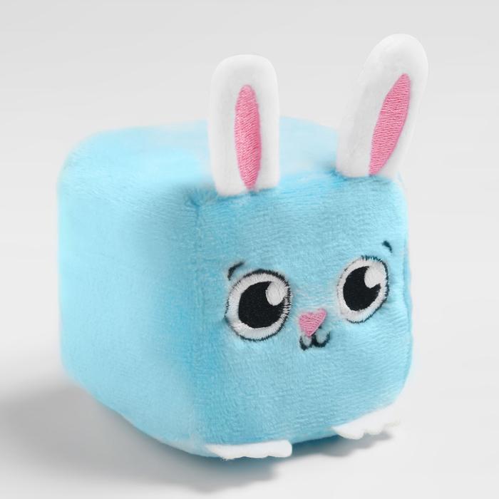 Развивающая игрушка, мягкий кубик Зайчик, в сумочке