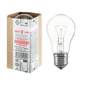 """Лампа накаливания """"Лисма"""", Б, E27, 40 Вт, 230 В"""