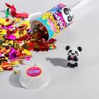"""Хлопушка с игрушкой """"Хлопушка-сюрприз"""", панды"""
