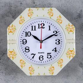 Часы настенные, серия: Классика, 'Цветы', 19х19х3 см , микс Ош