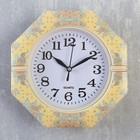 """Часы настенные, серия: Классика, """"Пионы и васильки"""", 19х19х3 см"""
