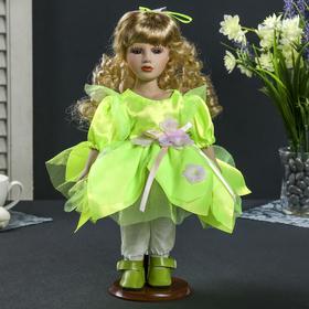 Кукла коллекционная керамика 'Анисья в зелёном коротком платье в стиле эльфа' 30 см Ош