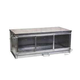 Брудер для цыплят, 100 × 40 × 45 см, с поддоном, с патроном под лампу, металлический Ош