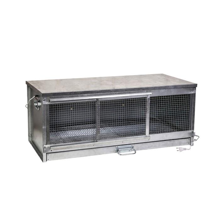 Брудер для цыплят, 100  40  45 см, с поддоном, с патроном под лампу, металлический