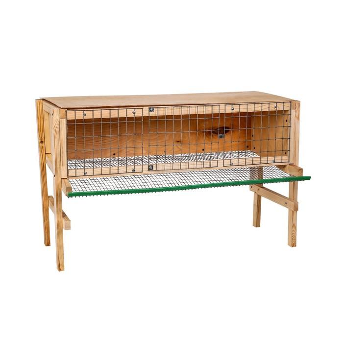 Клетка для перепелов, 100  60  35 см, на 25-40 голов, с яйцесборником, деревянная