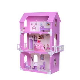 Домик для кукол «Коттедж Екатерина» с мебелью, цвет бело-розовый