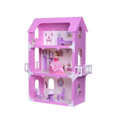 Домик для кукол «Коттедж Екатерина» с мебелью, цвет бело-розовый - Фото 1