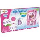 Домик для кукол «Коттедж Екатерина» с мебелью, цвет бело-розовый - Фото 5