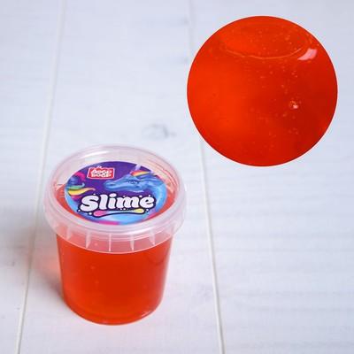 Слайм в ведёрке оранжевый ароматизированный, 150 мл - Фото 1