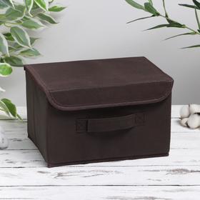 Короб для хранения с крышкой «Алва», 26×20×15 см, цвет коричневый Ош