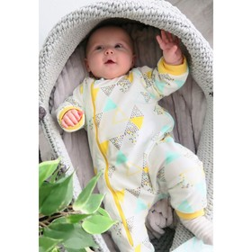 Комбинезон для новорождённого «Пина Колада», рост 68 см, цвет белый