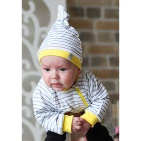 Комбинезон для новорождённого «Лимончелло», рост 68 см, цвет белый
