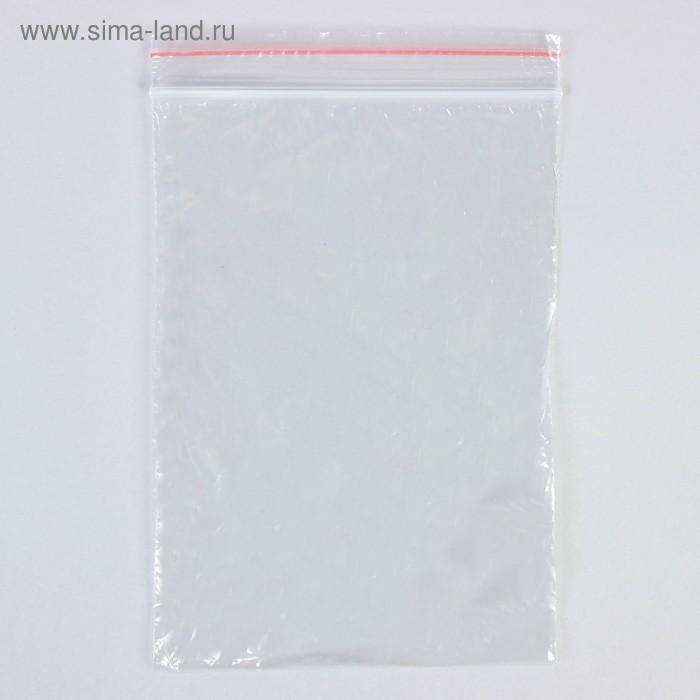 Пакет zip lock 12 х 17 см, 35 мкм (с красной полосой)