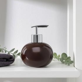 Дозатор для жидкого мыла Доляна «Карамель», 350 мл, цвет коричневый Ош