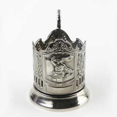 Подстаканник «Комбат», никелированный, с чернением - Фото 1