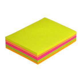 Блок с липким краем, 100 листов, 5 цветов, флуоресцентный, МИКС Ош