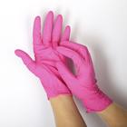 Перчатки нитриловые неопудренные, размер L, «Стандарт», 100 шт/уп, цвет розовый