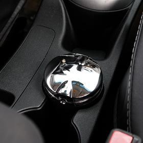Пепельница для авто с крышкой 'Type r' серебро, подсветка, 7,5х9 см Ош