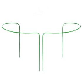 Кустодержатель, d = 30 см, h = 60 см, ножка d = 0,3 см, металл, набор 2 шт., зелёный Ош