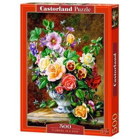Пазл «Цветы в вазе», 500 элементов