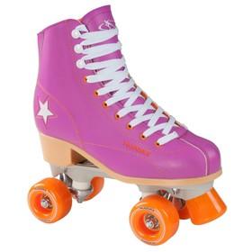 Ролики-квады Rollschuh Roller Disco, размер 36, цвет лиловый/оранжевый