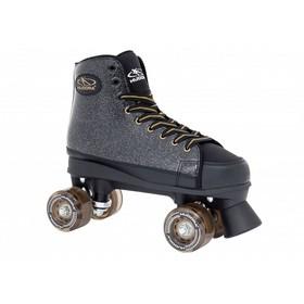 Ролики-квады Roller Skates Black Glamour, размер 36, цвет чёрный