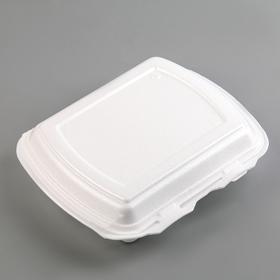 Ланч-бокс 22,5×13,5×4 см, 3 секции, цвет белый