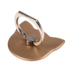 Держатель-подставка с кольцом для телефона LuazON, в форме 'Кошки', цвет золото Ош