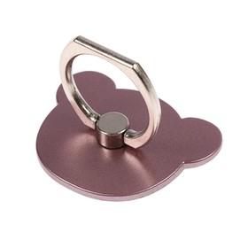 Держатель-подставка с кольцом для телефона LuazON, в форме 'Мишки', розовый Ош
