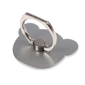 Держатель-подставка с кольцом для телефона LuazON, в форме 'Мишки', цвет сатин Ош