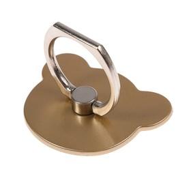 Держатель-подставка с кольцом для телефона LuazON, в форме 'Мишки', цвет золото Ош