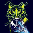 Лунная гравюра «Серый волк» 14,8 ? 21 см
